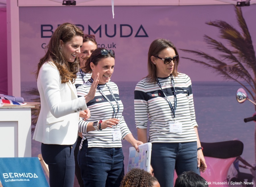 Kate Middleton with the 1851 Trust team wearing ME&EM