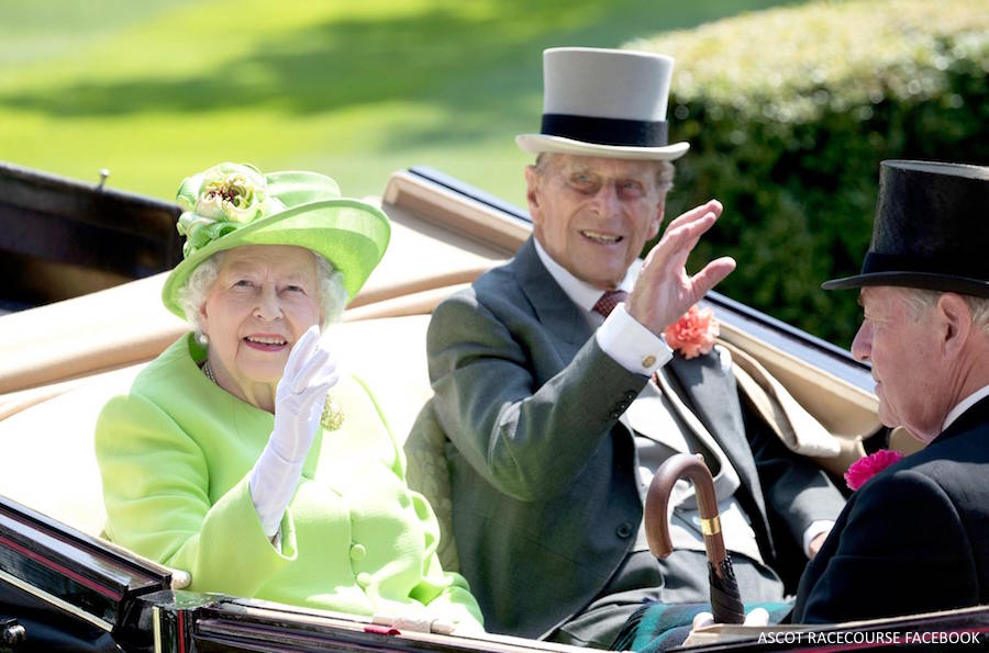 The Queen and Prince Philip at Ascot this year
