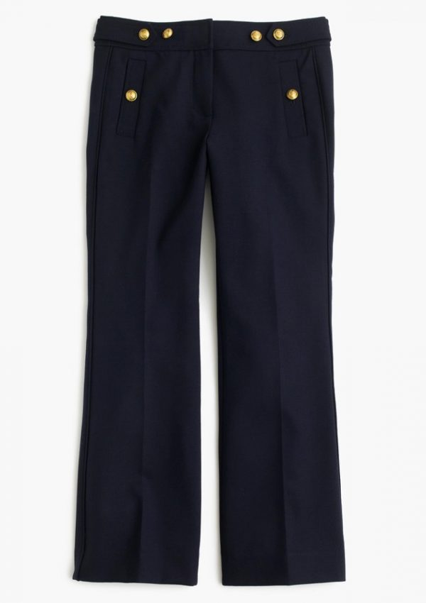 J.Crew Sailor Pants in two-way stretch wool