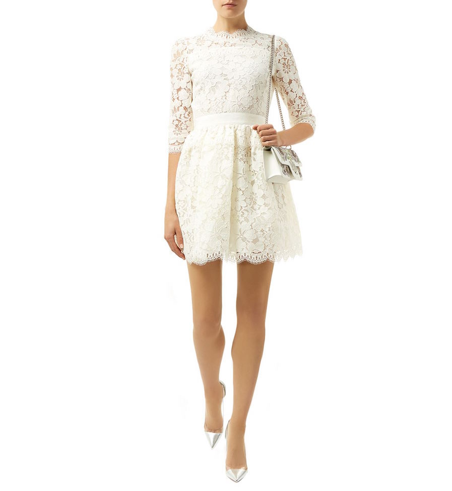 Alexander McQueen Floral Lace Mini Dress