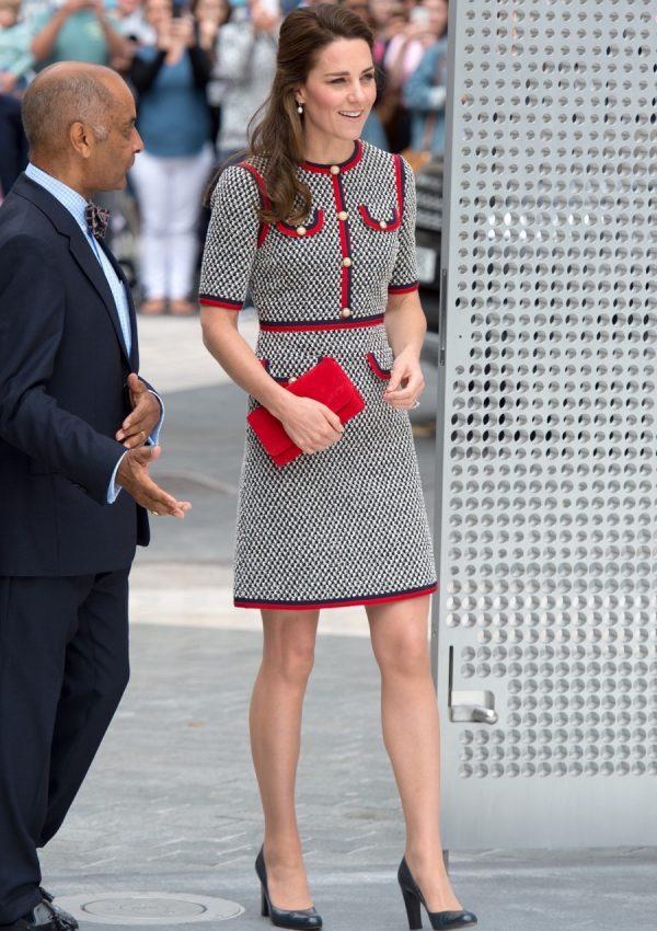 Kate Middleton wearing Gucci
