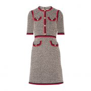 Kate MIddleton's Black, Red and White Tweed Gucci Dress