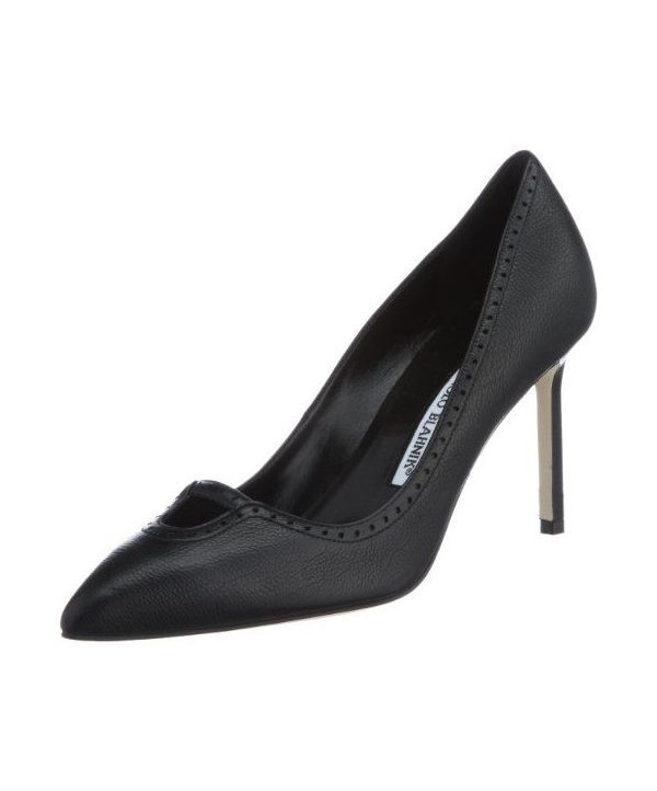 Manolo Blahnik Calogera court shoes