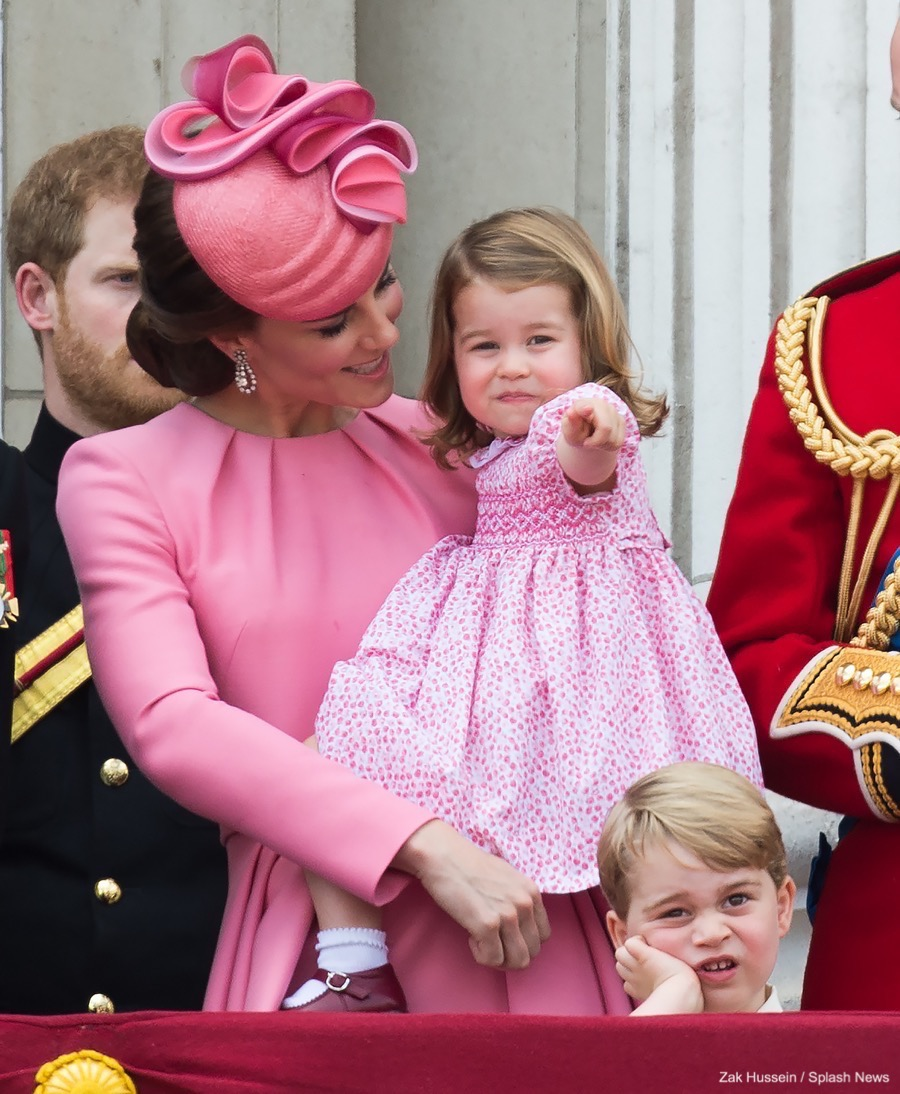 Prince George and Princess Charlotte at 2017 Trooping the Colour