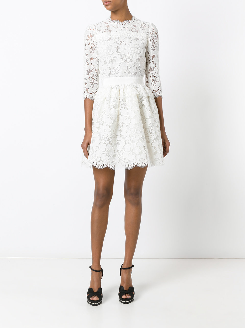 White Alexander McQueen dress