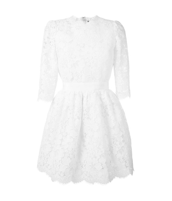 White Alexander MCqueen lace dress