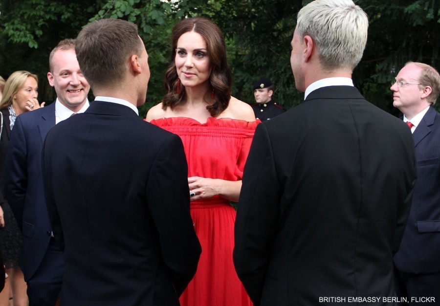 William and Kate mingle with guests at the Garden Party in Berlin