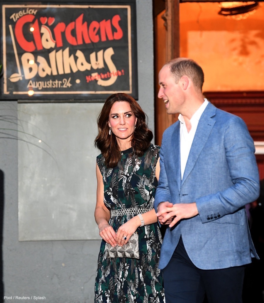 William and Kate visit Clärchens Ballhaus ballroom in Berlin