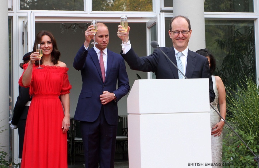 William and Kate visit Berlin, Germany. The couple attend a Garden Party with the British Ambassador to Germany.