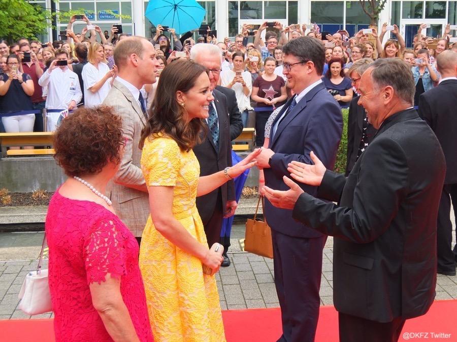 William and Kate visit DKFZ in Heidelberg, Germany