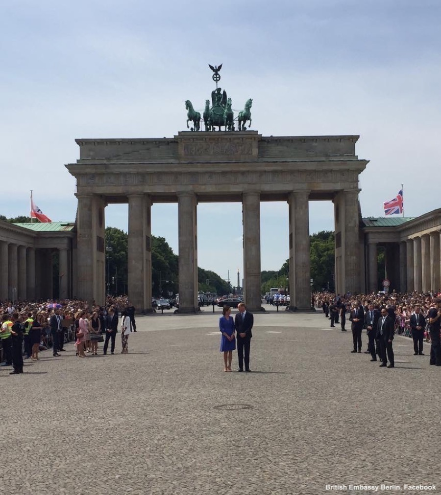 William and Kate at the Brandenburg Gate in Berlin