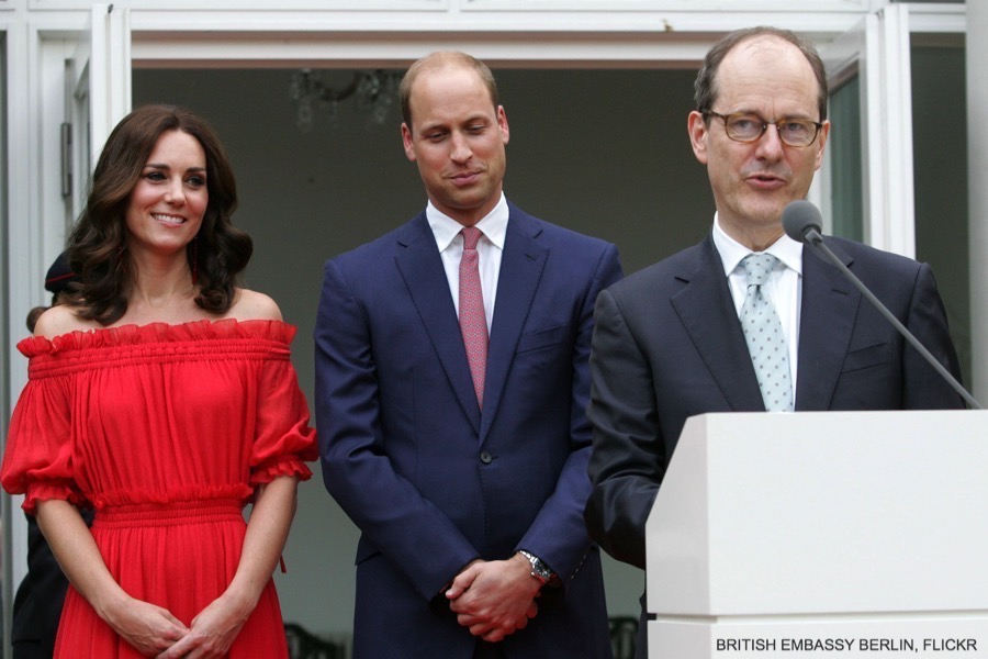 The Duke and Duchess at the Garden Party in Berlin, Germany