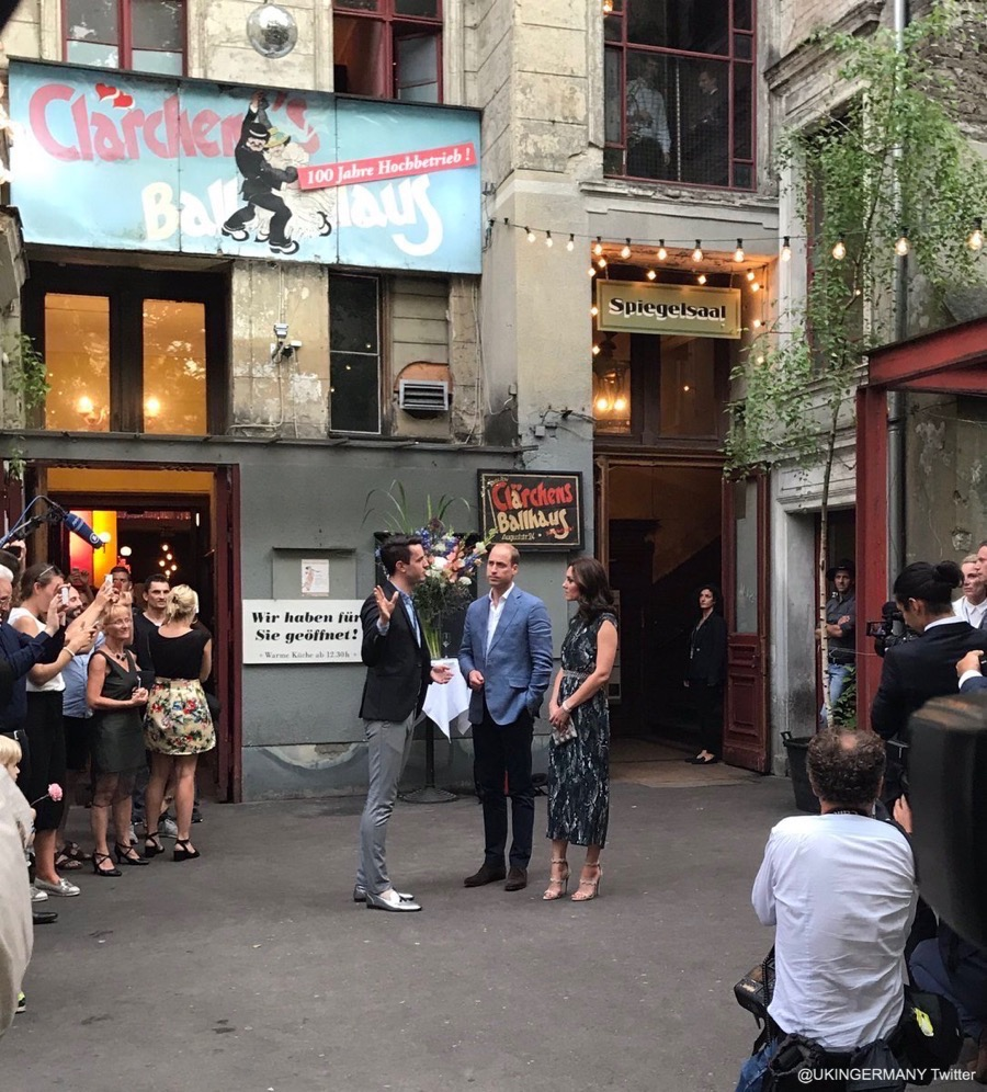 William and Kate at the Ballhaus in Berlin, Germany
