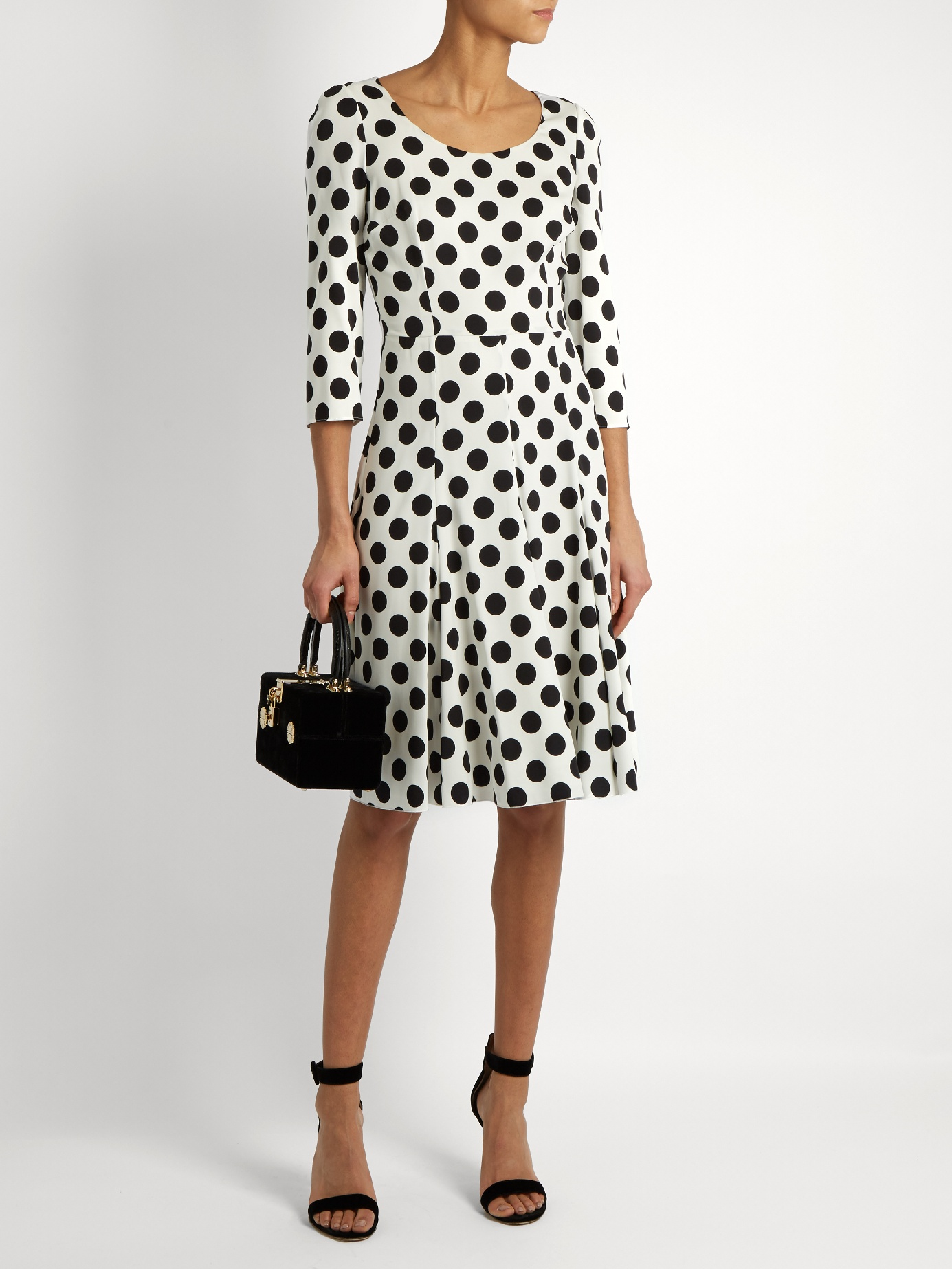 DOLCE & GABBANA POLKA DOT DRESS