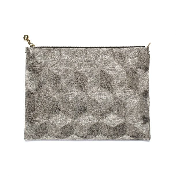 Anne Grand Clément Zip Pouch Clutch Bag