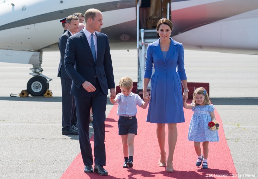 The Cambridges arrive in Berlin! The Royals landed in Germany around midday local time