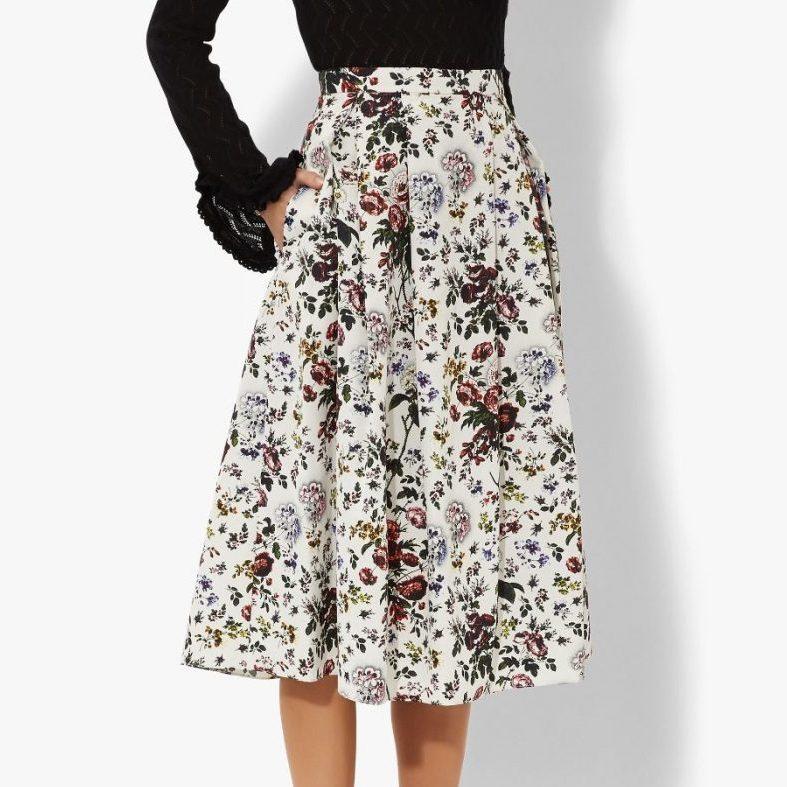 Erdem Imari Skirt in Hurst Rose Print