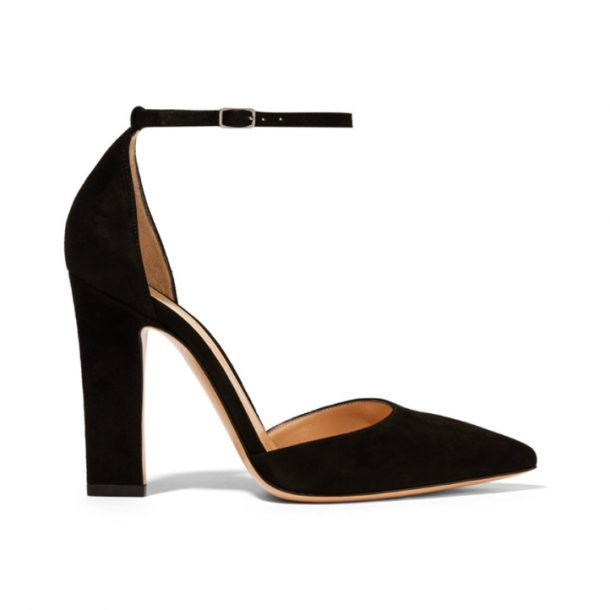 Gianvito Rossi 45 d'Orsay sandals in black suede.
