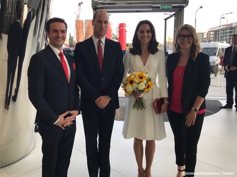 Kate and William and the Heart event