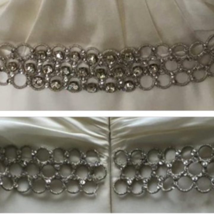 Silver honeycomb belt