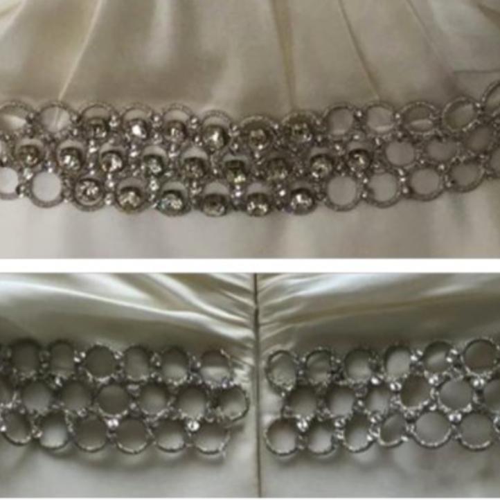 Silver honeycomb belt