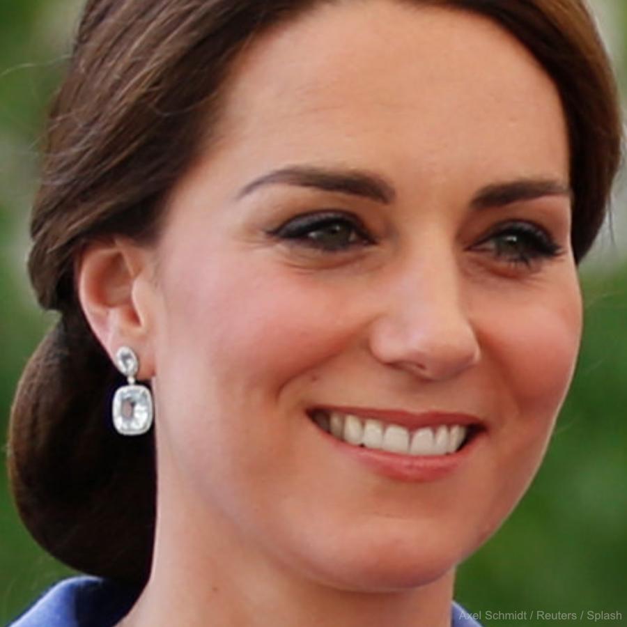 Kate Middleton's blue earrings in Berlin