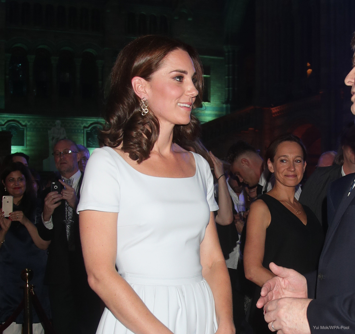 The Duchess of Cambridge attends the reopening of Hintze Hall at the Natural History Museum, London, UK, on the 13th July 2017.