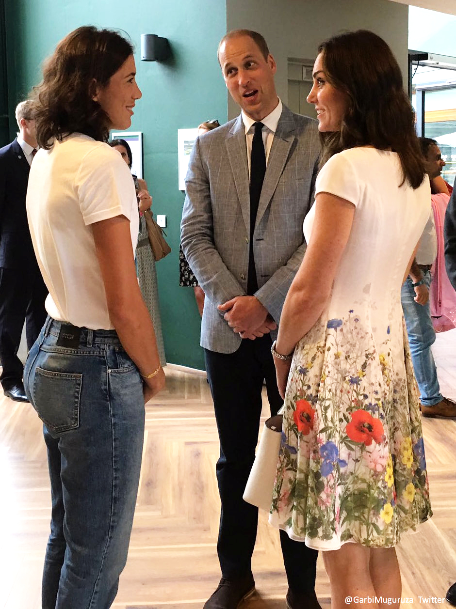 Kate middleton meeting Garbiñe Muguruza at Wimbledon