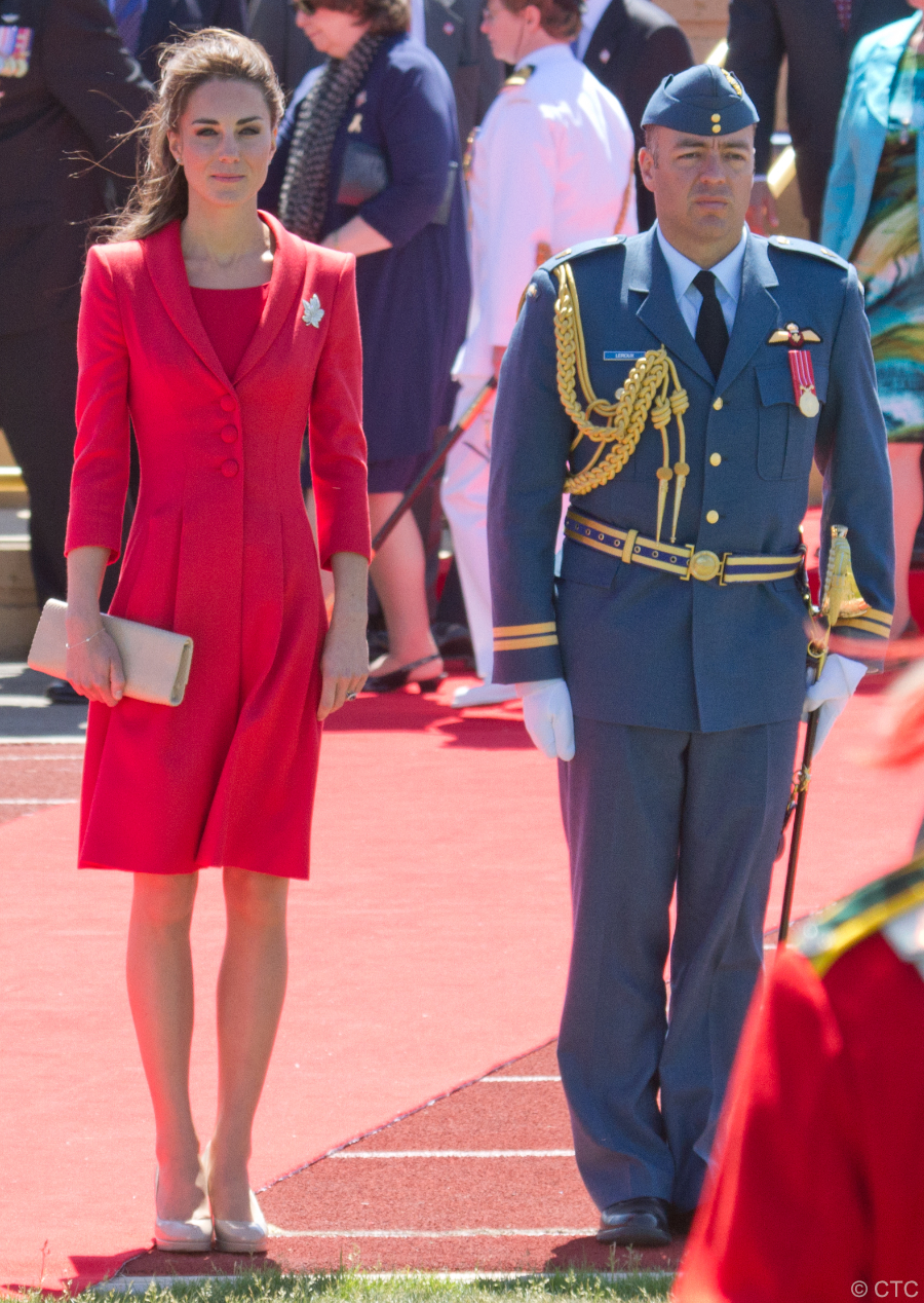 The Duke and Duchess of Cambridge participate in the official departure ceremony at Calgary Rotary Challenger Park. Photo by Maurice Li.