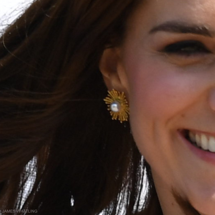 Kate Middleton's earrings in Heidelberg, Germany