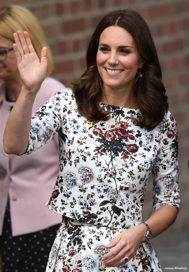 The Duke and Duchess of Cambridge visit Gdansk Town Market in Gdansk, Poland, on the 18th July 2017. Picture by James Whatling