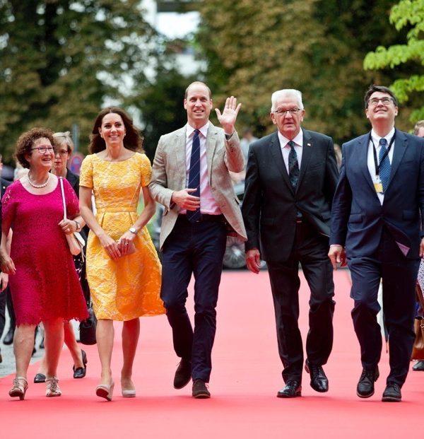 Kate wears cheery yellow dress in Heidelberg, Germany