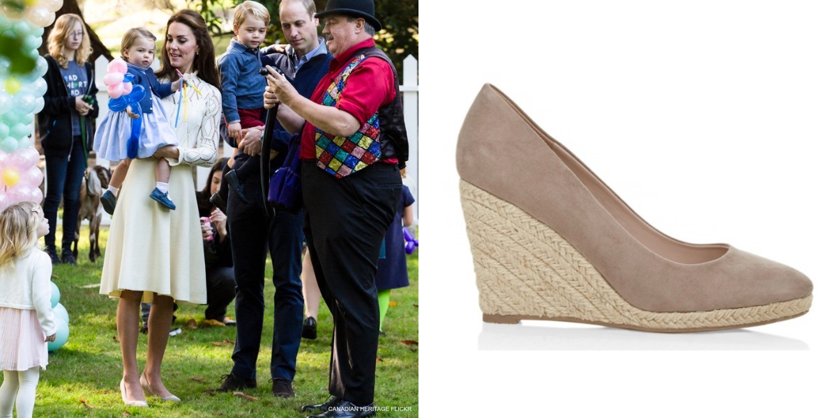 Monsoon Fleur Espadrille Wedges Worn By Kate Middleton In