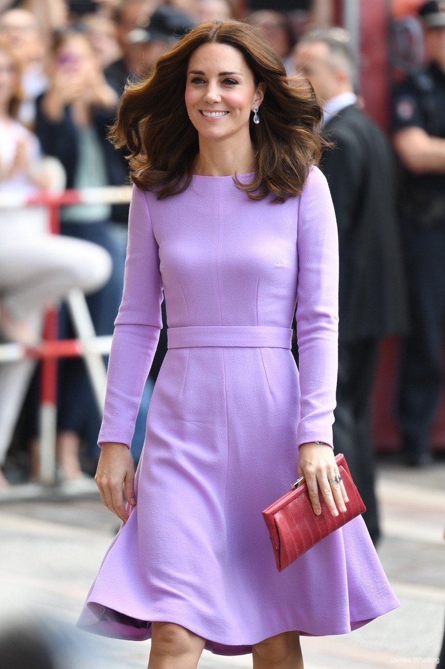 Kate looks lovely in lavender for her final day in Germany ...