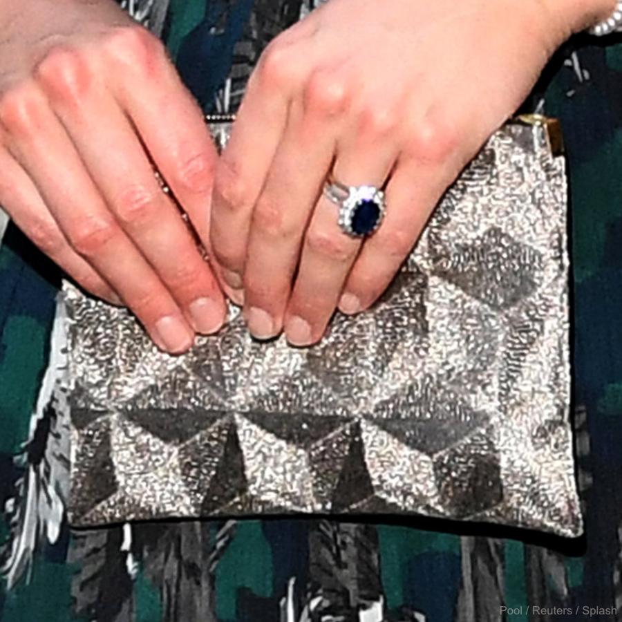Kate Middleton's Silver Clutch Bag in Berlin, Germany