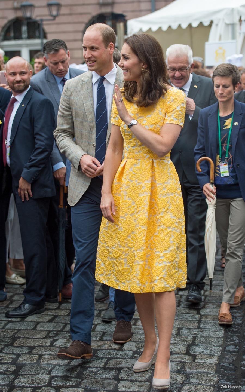 Kate Middleton at the street market in Heidelberg, Germany
