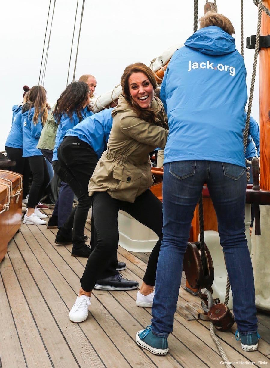 Kate Middleton wearing her Superga Cotu Sneakers in Canada