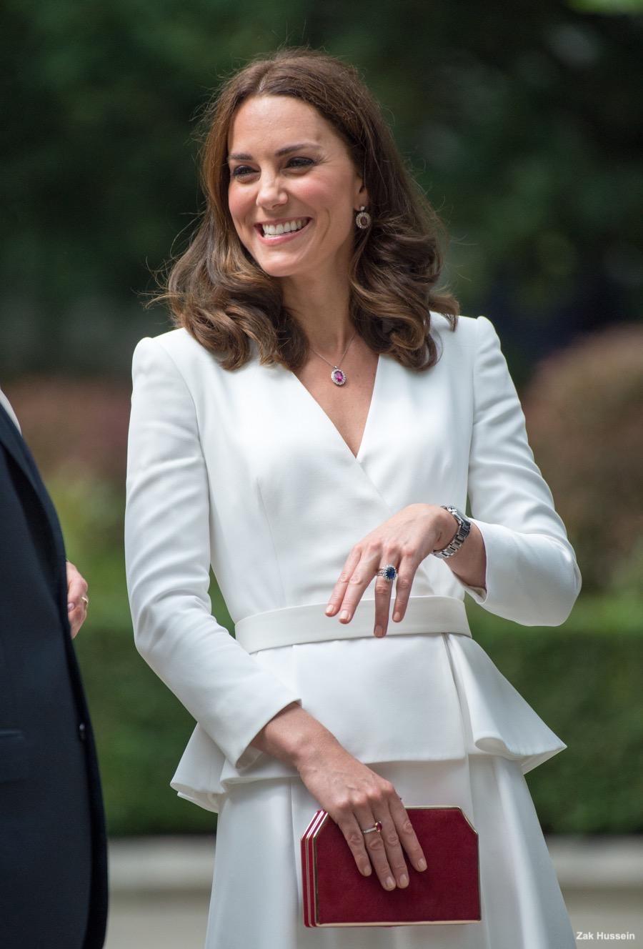 William Kate George Charlotte Visit Warsaw Poland Kate Middleton Style Blog