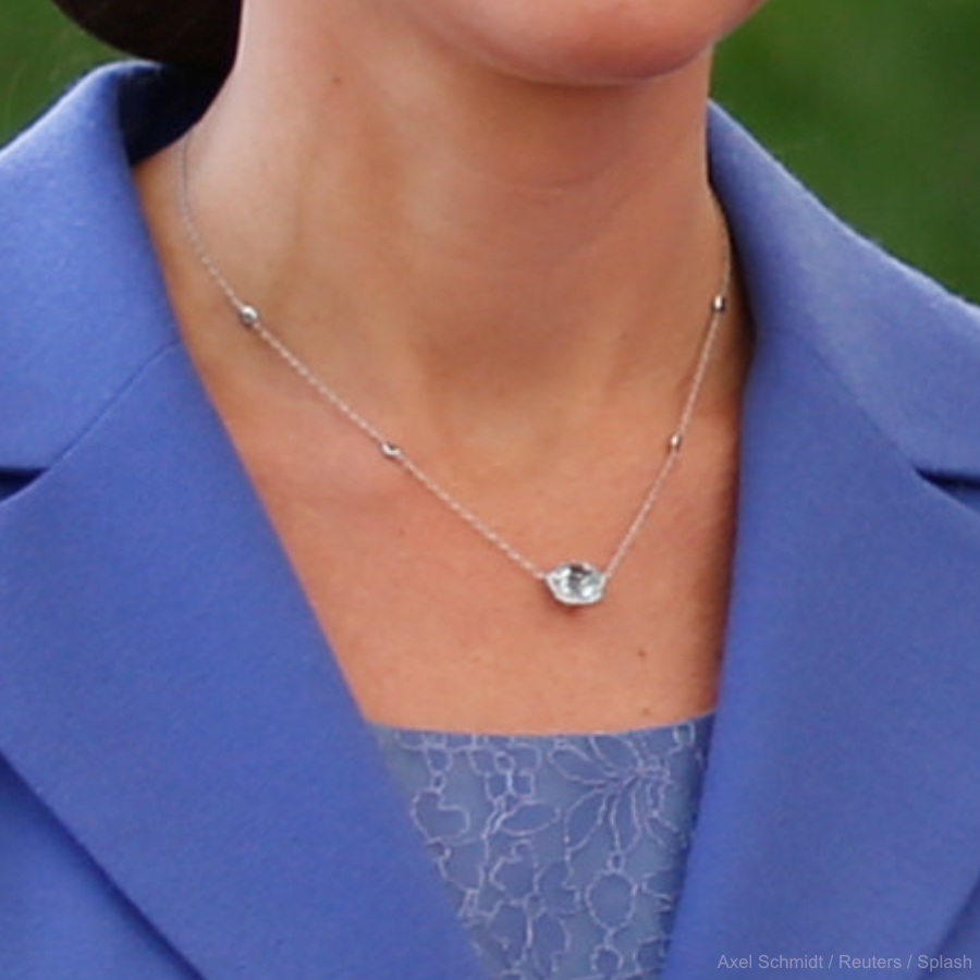 Kate Middleton's blue necklace in Berlin