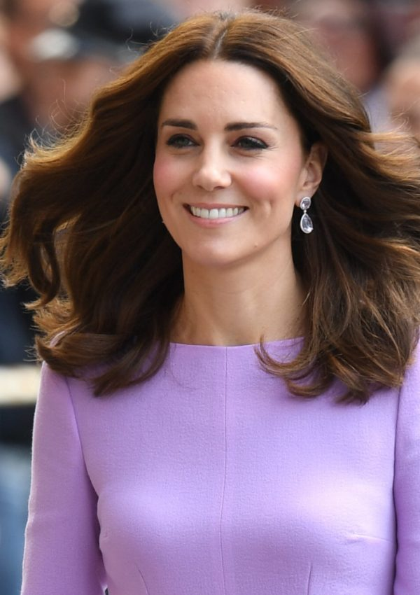 Kate looks lovely in lavender for her final day in Germany
