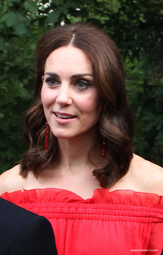 Kate Middleton wearing Simone Rocha earrings