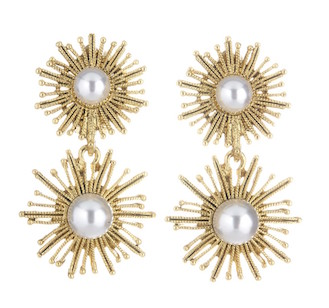 Oscar de la renta pearl earrings