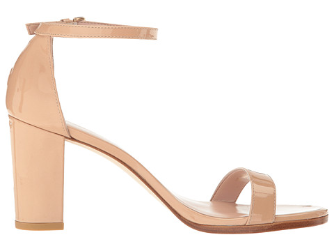 Stuart Weitzman Nearly Nude in Patent Leather with Small Platform / Thicker Sole