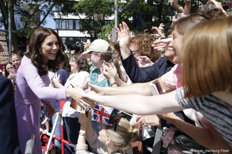 William and Kate greet crowds