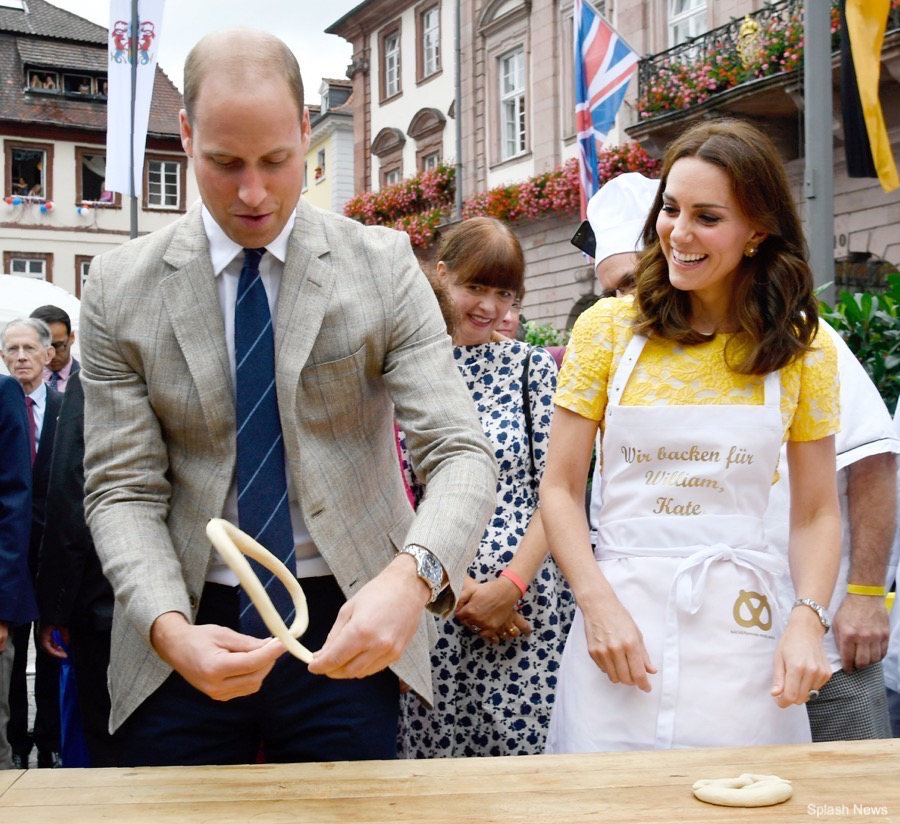 William and Kate make pretzels
