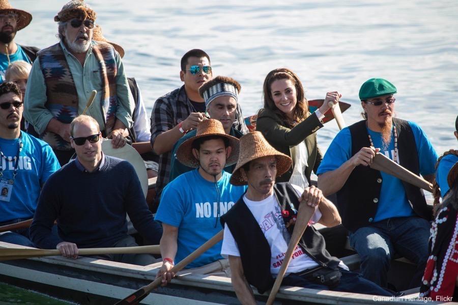 Kate Middleton visits Haida Gwaii and arrives by Canoe!