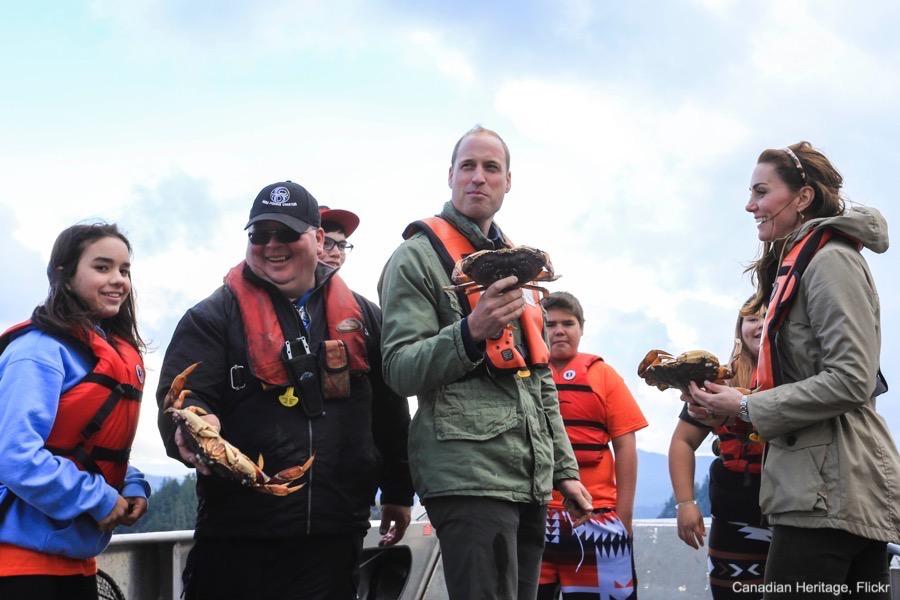William and Kate fishing in Haida Gwaii