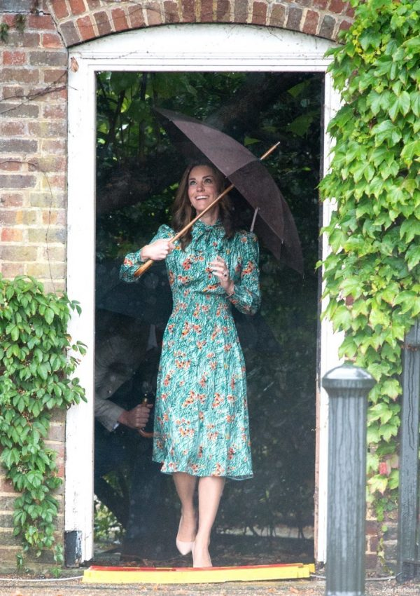William, Kate and Harry tour Princess Diana's memory garden at Kensington Palace