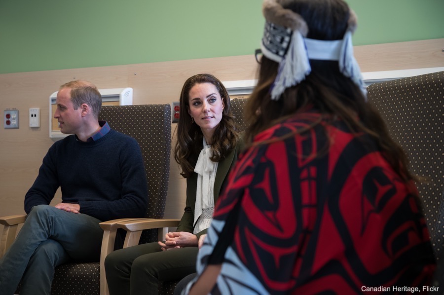 William and Kate meeting with mothers at the Haida Gwaii Health Centre