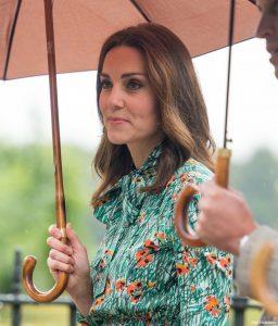 Kate Middleton carrying an umbrella
